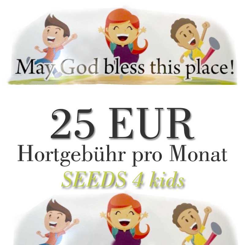 Spendenpaket Hort-Gebühr, monatlich 25 EUR