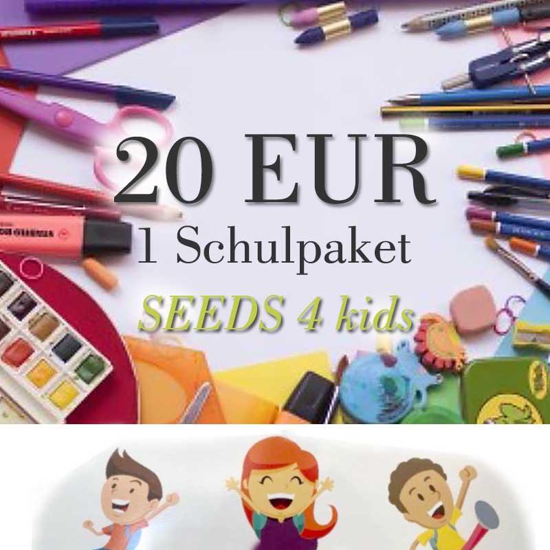Spendenpaket: 1 x 20 EUR für Schulpaket