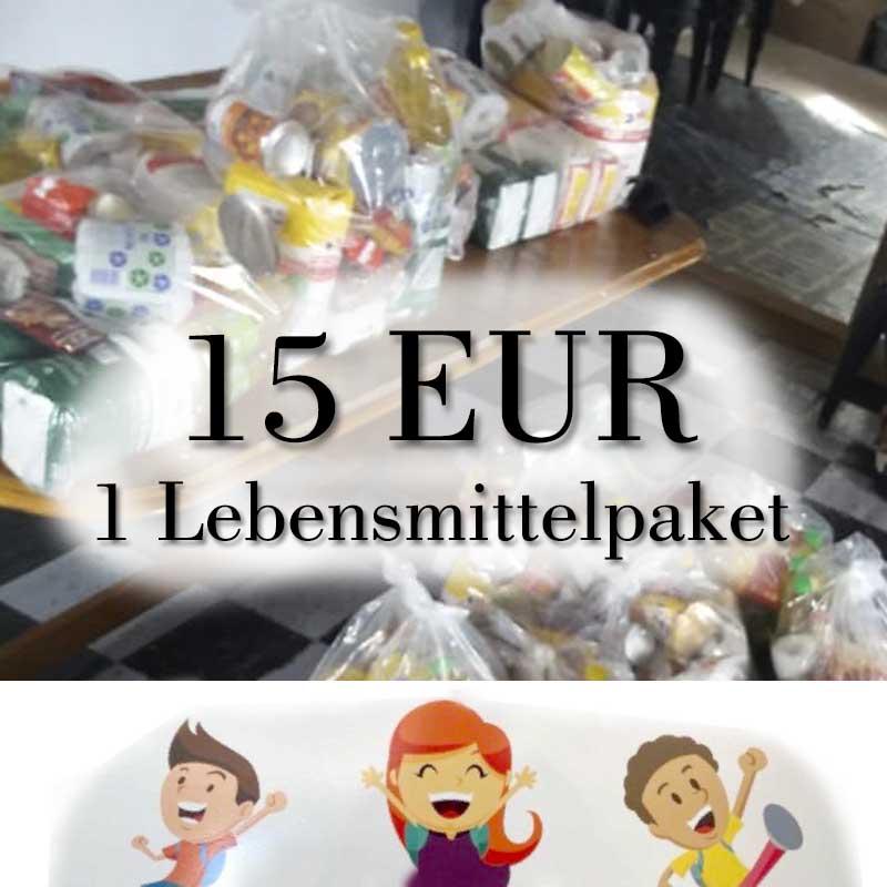 15 EUR Spende: Lebensmittelpaket